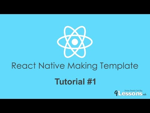 React Native Making Template NativeBase - Tutorial 1