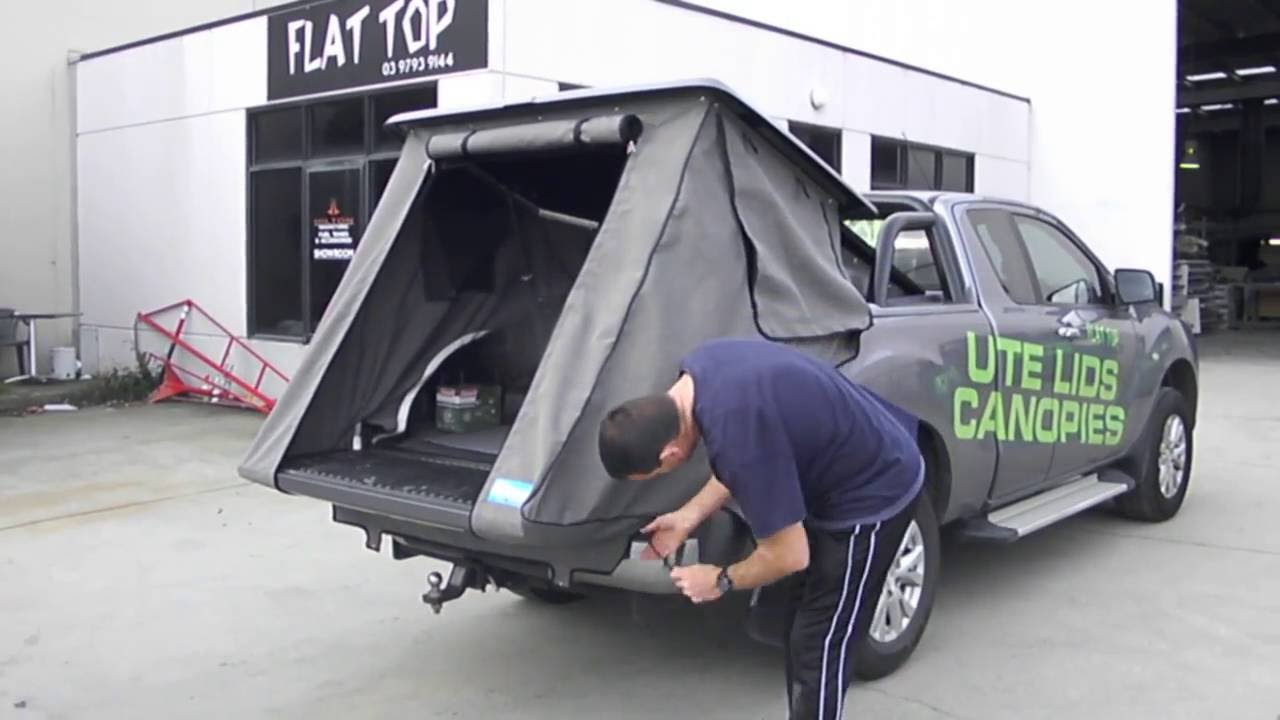& Camping _ute swag-Hard Cover_ flat top - YouTube