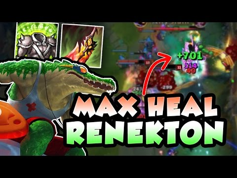 BECOME A 1V4 SUSTAIN GOD WITH THIS RENEKTON BUILD! DEATHS DANCE + VISAGE BUFFS OP! League of Legends