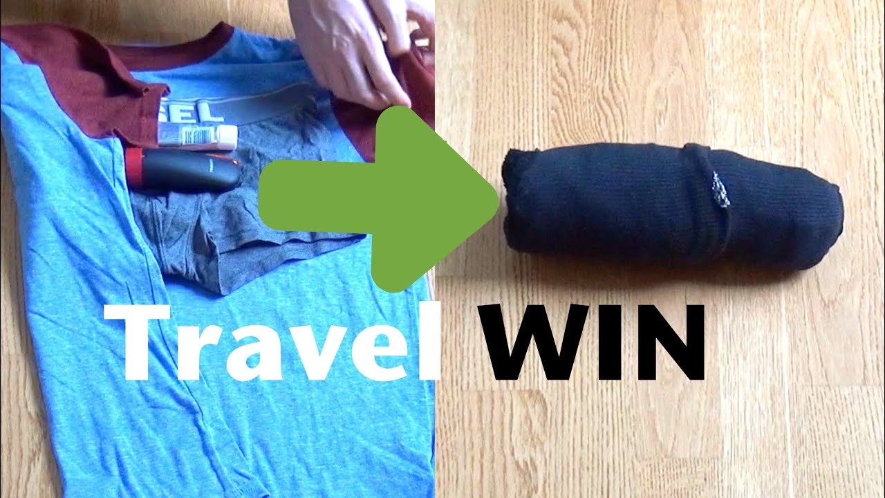Best way to fold clothes for a trip - Travel Win Best Packing Advice Ever The Super Roll