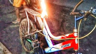 Cycle Mein Aag Laga Gaya Ab Kya Hoga The Bicycle Caught Fire.what Will Happen Now..?🔥🔥😲