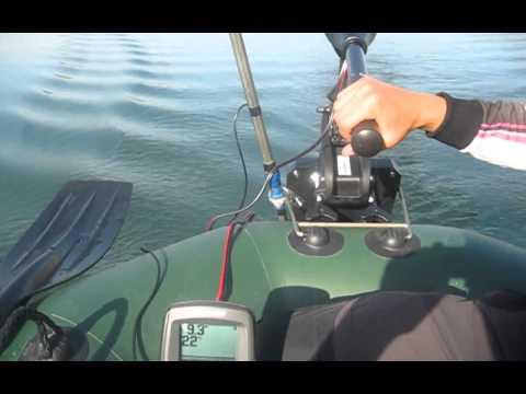 установка датчика эхолота на дюралевую лодку