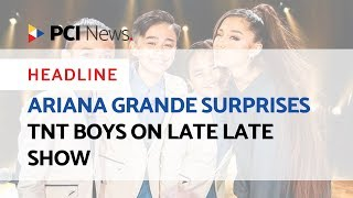 Ariana Grande surprises TNT Boys on Late Late Show