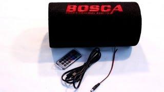 Видеообзор Сабвуфер BOSCA 5 дюймов Распаковка Unboxing и Тест