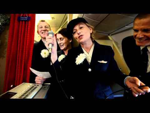 Love is in the air: Beautiful airplane wedding – listen to the airplane wedding rap | SAS