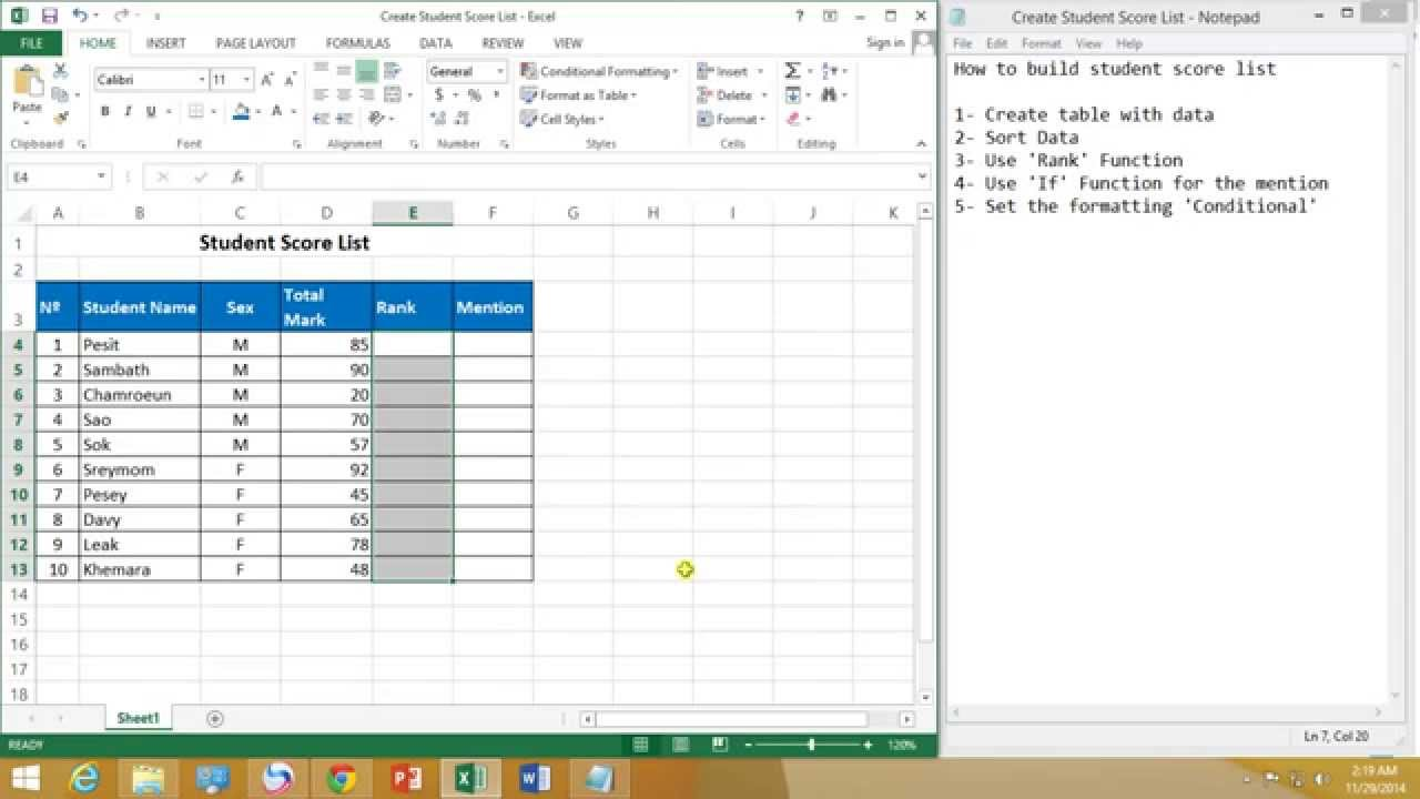 how to get the z score in excel
