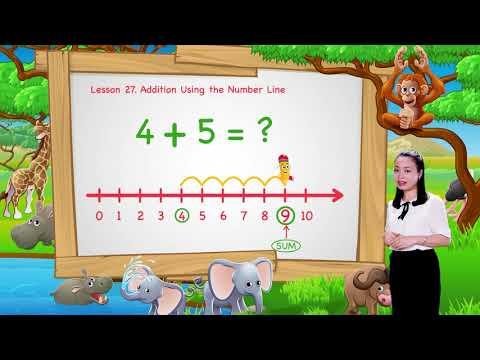 Math For Kids | Lesson 27. Addition Using the Number Line  | Kindergarten image
