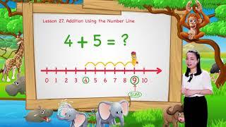 Math For Kids   Lesson 27. Addition Using the Number Line   Kindergarten