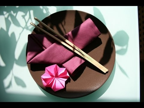Servietten Falten Asiatisch Napkin Folding Ribbon Letter Youtube