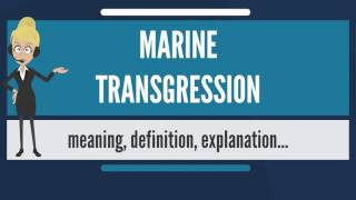 What is MARINE TRANSGRESSION? What does MARINE TRANSGRESSION mean?