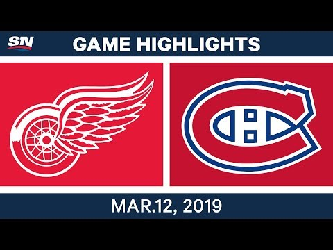 NHL Highlights | Red Wings vs. Canadiens – Mar 12, 2019