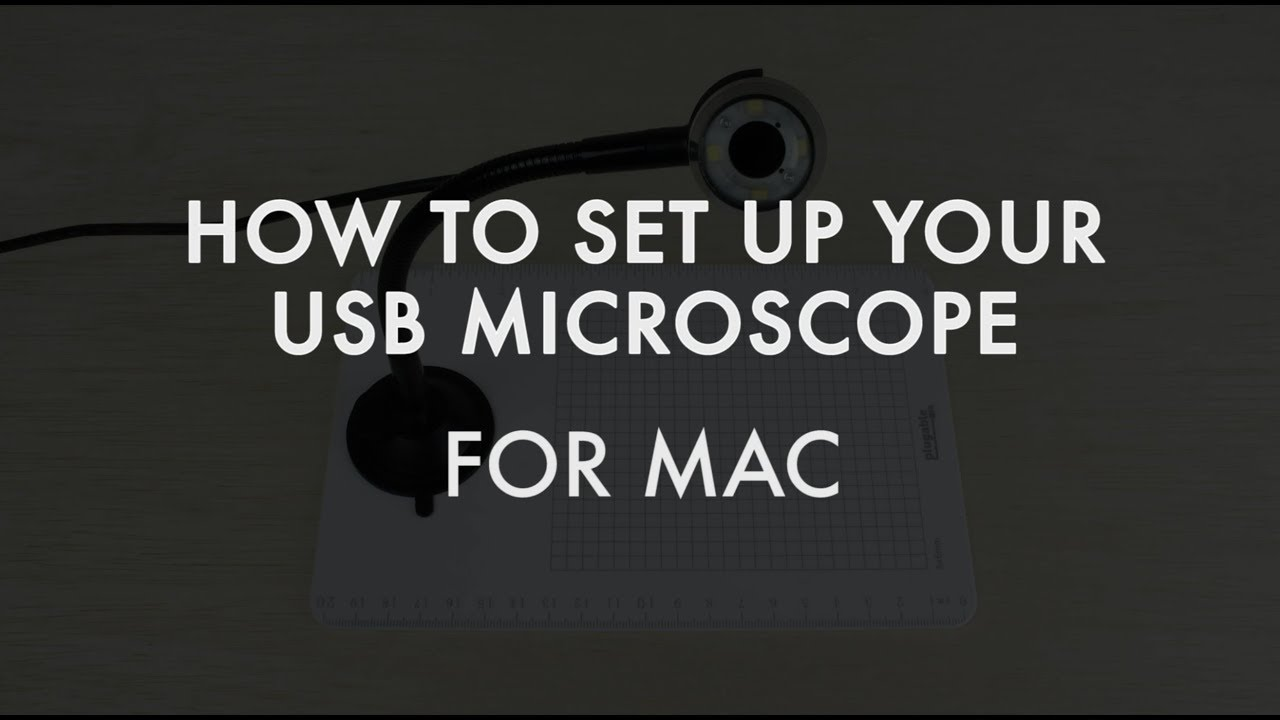 How to use plugable s usb digital microscope mac youtube