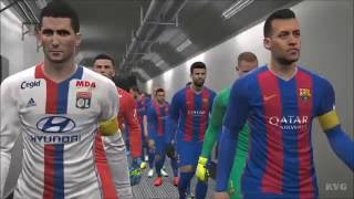 Pes 2017 - fc barcelona vs olympique lyonnais | gameplay (pc hd) [1080p60fps]