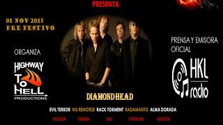 CUÑA WITCHING METAL FEST 2 DIAMOND HEAD EN CALI