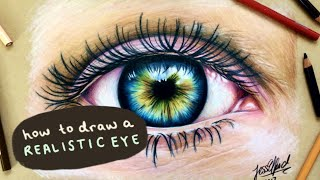 HOW TO DRAW A REALISTIC EYE with prismacolor pencils