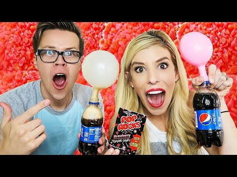 GIANT POP ROCKS AND SODA EXPERIMENT - (DAY 65)