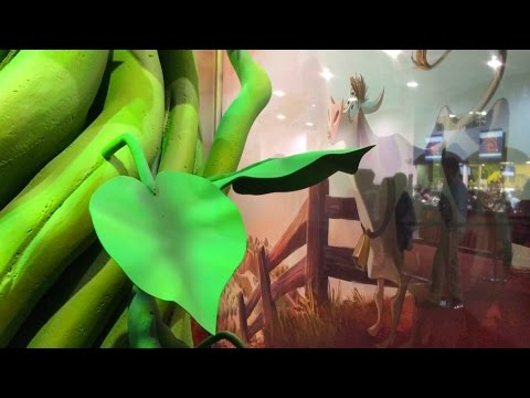gigantic beanstalk emerges at d23 expo 2015 as first look at disney