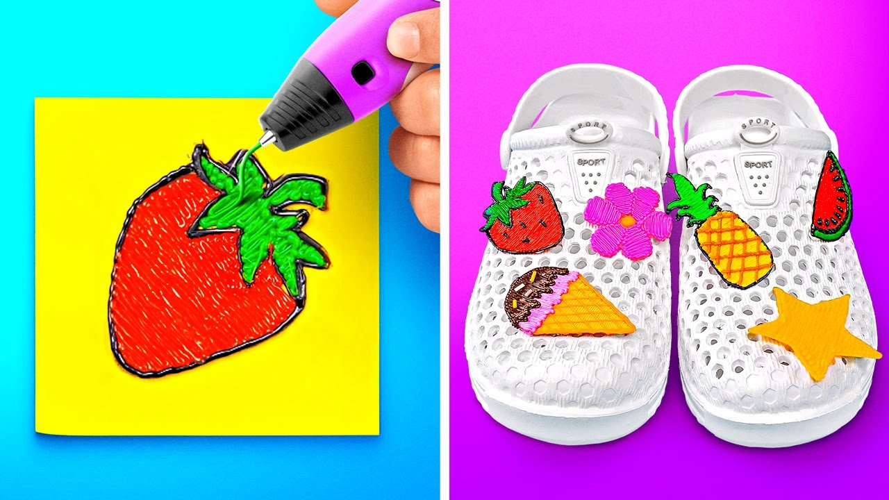 COOL AND EASY 3D PEN CRAFTS || Funny Crafts And Easy DIY Ideas by 123 GO Like!