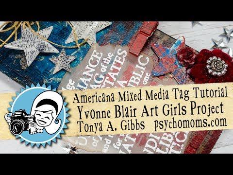 Americana Mixed Media Tag