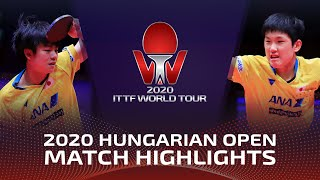 Tomokazu Harimoto vs Yukiya Uda | 2020 ITTF Hungarian Open Highlights (Final)