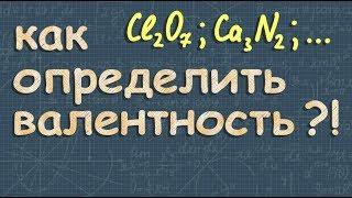 химия ВАЛЕНТНОСТЬ химических элементов 8 класс