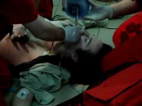 young teenage male in cardiac arrest