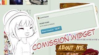 [Tutorial] Cómo instalar y usar el Commission Widget de Deviantart y decorar tu perfil sin CORE!