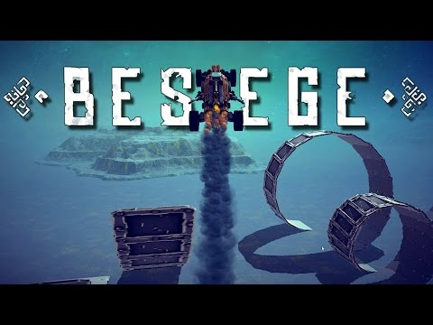 Best Besiege Creations! - Stunt Park, Mini Tank, Robot Launcher, and more! - Besiege Gameplay