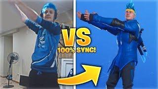 FORTNITE DANCES IN RËAL LIFE 100% IN SYNC! (Pon Pon Emote & Ninja Skin)
