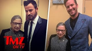 Ruth Bader Ginsburg Hangs With A Couple Hot Studs! | TMZ TV