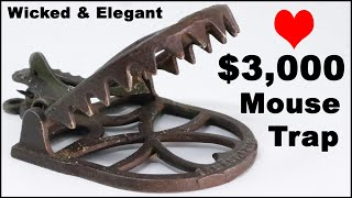 A $3,000 Wicked & Elegant Mouse Trap. The Royal No. 1 Mousetrap From 1879. Mousetrap Monday