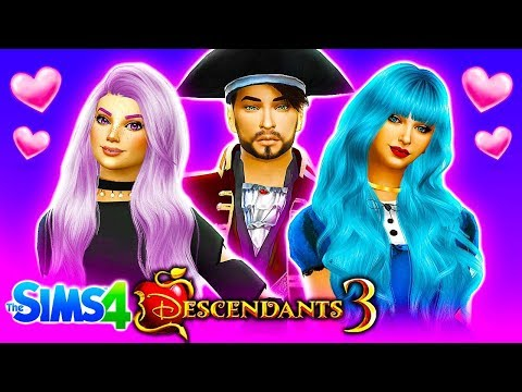 DESCENDANTS 3 LOVE TRIANGLE?!❤ Sims 4 Descendants 3 #3! 👑 Disney Descendants 3 Sims 4