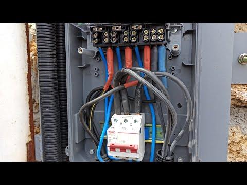 Подключение СИП провода к электросчётчику и автомату