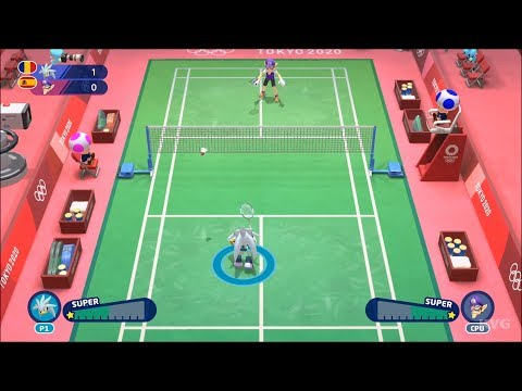 Mario & Sonic At The Olympic Games Tokyo 2020 - Badminton Gameplay (Nintendo Switch HD) [1080p60FPS]