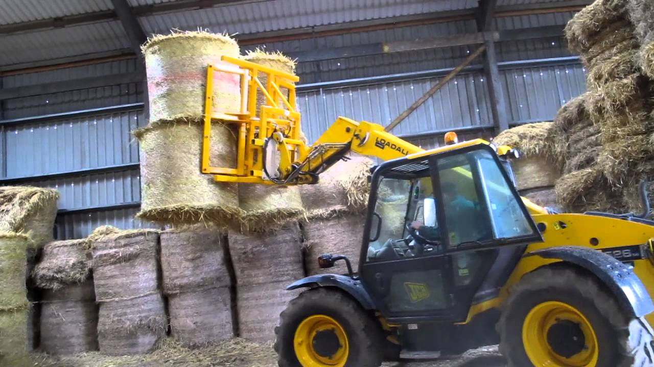 Big Square and Round Bale Stacker - YouTube