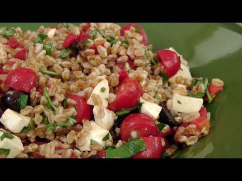 Italian Farro Salad Recipe by Laura Vitale Laura in the Kitchen Episode 122