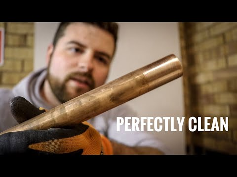 How to clean copper pipes for soldering