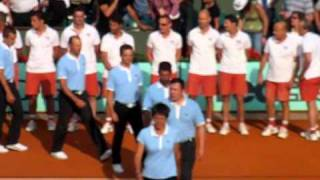 Roland Garros 2011, men's final. Trophy ceremony.
