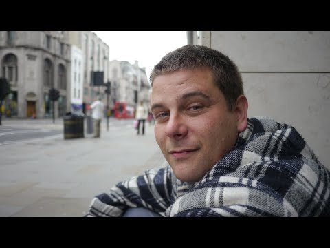 Adrian is sleeping rough homeless on the streets of London