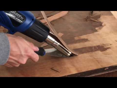 How To Remove Veneer Easily With A HomeRight Heat Gun by Thirty Eighth Street