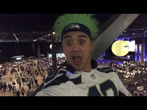 At the Seahawks draft party!
