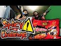 SPICY NOODLE CHALLENGE (NO DRINKING) + Firing Squad PUNISHMENT! - GLOCO & Trinhil