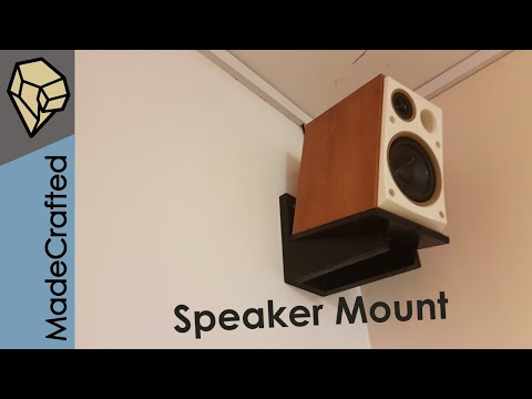 How To Make Wall Mounts For Speakers.