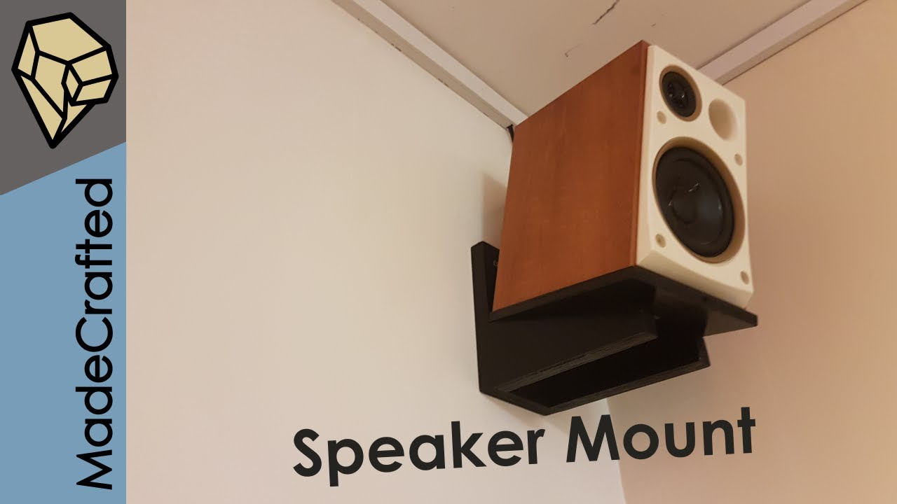How To Make Wall Mounts For Speakers Youtube