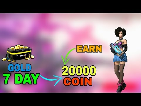 FREE FIRE:- Collect 20000 Gold Coin In 7 Days   Earn 20000 Gold In 7 day 🇮🇳[Hindi].