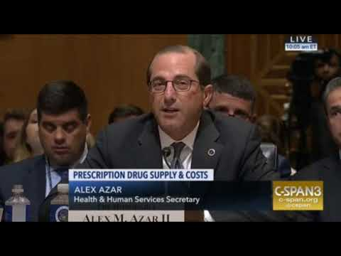 HHS SEC Alex Azar VS Ron Wyden on Family Re-Unification June 26 2018