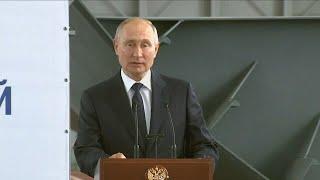 Путин в Крыму принял участие в церемонии закладки боевых кораблей