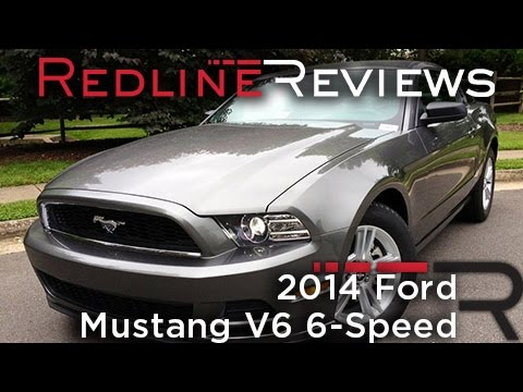 2014 ford mustang v6 6-speed review, walkaround, exhaust & test