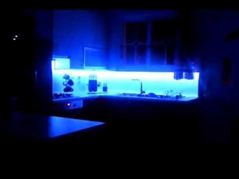 Led Rgb Light Kitchen Glass Backsplash YouTube Unique Backsplash Lighting