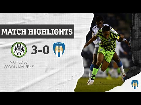 Forest Green Colchester Goals And Highlights